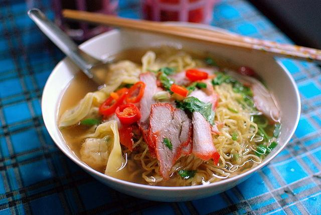 บะหมี่แห้งหมูแดง - Bami Moo Deng