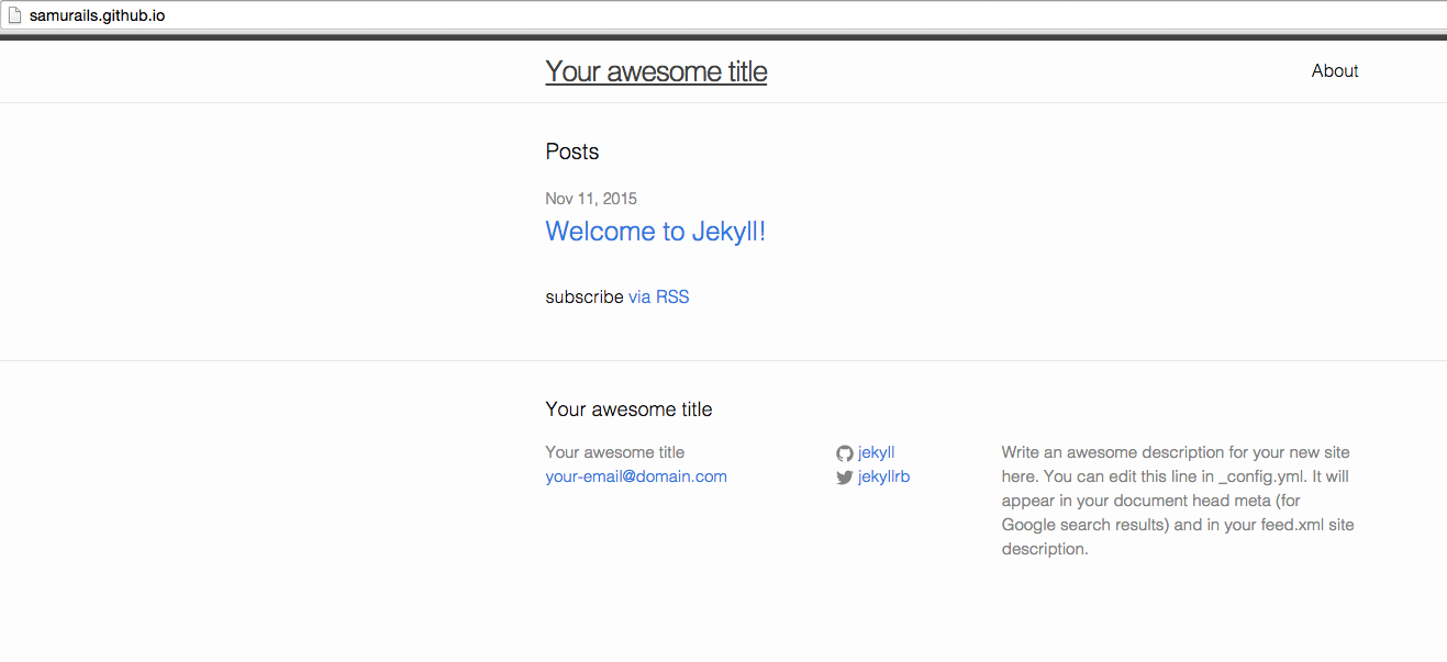 Create a static website/blog with Jekyll and Github Pages - Devblast